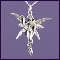 Silver necklaces sterling silver fairy pendants on a 925 silver chain find necklaces with ethereal fairies serious fairies fairies on unicorns fairies on moons and a mozeypictures Images